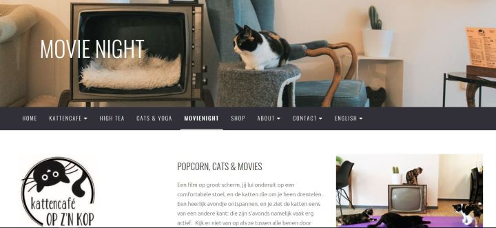 Kattencafé website
